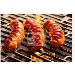 Obraz Grillowanie kiełbasek na grilla