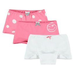 KANZ Girls Mini Bokserki dziecięce 3 szt. white/pink