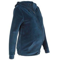 a71a3c71 Bluza ciążowa z dzianiny welurowej nicki bonprix ciemnoniebieski