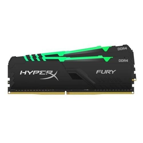 Kingston zestaw pamięci kingston hyperx fury rgb hx426c16fb3ak2/16 (ddr4 dimm; 2 x 8 gb; 2666 mhz; cl16)