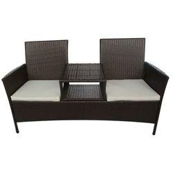 vidaXL Meble polirattanowe, dwa fotele i stolik. Darmowa wysy?ka i zwroty