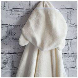 Bambusowy Ręcznik Dziecięcy z Kapturkiem, Candyland / Ecru, 65x130 cm, CAMPHORA STUDIO