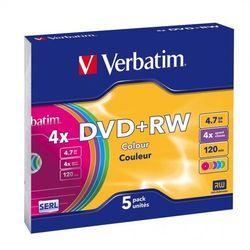 VERBATIM PŁYTY DVD+RW VERBATIM 4,7 GB 4X SLIM CASE 5 SZT.