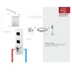 CORSAN Zestaw podtynkowy z termostatem, chrom CM-02T_30LEDR