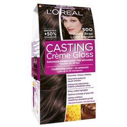 Loreal Paris Casting Creme Gloss Farba do włosów bez amoniaku Jasny Brąz nr 500