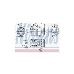NISSENS Kompresor, klimatyzacja - 89023