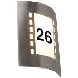 Lampa zewnętrzna Emmerald z czujnikiem zmierzchu i numerem domu