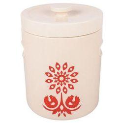 Pojemnik ceramiczny BIOWIN 770304 Kremowo-Czerwony (4.4 litra)