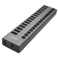 I-Tec USB 3.0 Charging HUB 16 port + Power Adapter 90 W USB hub - 16 - Szary