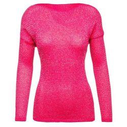 Różowy sweterek damski Denley 0970 - RÓŻOWY
