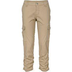 Spodnie bojówki 7/8 bonprix beżowy