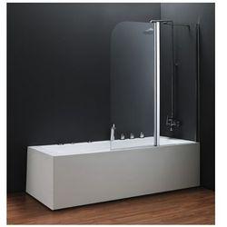 OMNIRES Parawan nawannowy, prawy, szkło transparentne 115x140cm QP95B-P TR
