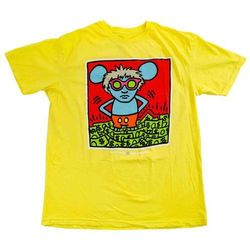 koszulka ALIEN WORKSHOP - Haring Andy Mouse Yellow (ZLUTA) rozmiar: L