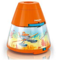 DISNEY - Lampka nocna Projektor LED Pomarańczowy Planes Wys.11,8cm