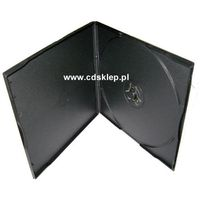 Etui plastikowe na 1DVD SLIM 5mm kwadratowe czarne