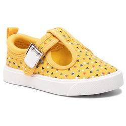 Kapcie CLARKS - City Spark T 261413236 Yellow Combi