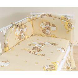MAMO-TATO pościel 3-el Drabinki z misiami na kremowym tle do łóżeczka 70x140cm
