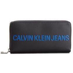 021034d3e7e96 Duży Portfel Damski CALVIN KLEIN JEANS - Sculpted Zip Around K40K400408 001