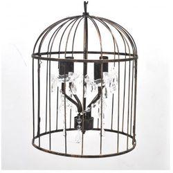 Ekskluzywna lampa wisząca w kształcie klatki (Czarna) Zapisz się do naszego Newslettera i odbierz voucher 20 PLN na zakupy w VidaXL!