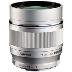 Obiektyw OLYMPUS Digital ED 75mm Srebrny