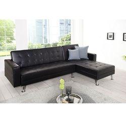 Sofa narożna Confort czarna (z funkcją spania)