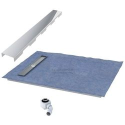 Schedpol podposadzkowa płyta prysznicowa 80x140 cm steel krótki bok 10.009OLKBSL