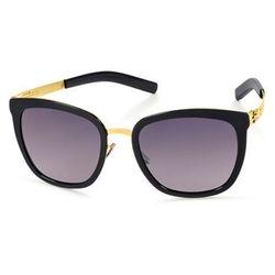 c91b5947085f Okulary Słoneczne Ic! Berlin D0020 Maira B. Matt Gold Obsidian Washed -  Black To