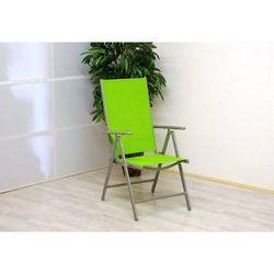 Rovens.pl Krzesło ogrodowe aluminiowe składane zielone