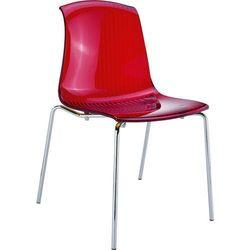 Krzesło designerskie nie tylko do kawiarni Siesta Allegra czerwone transparentne