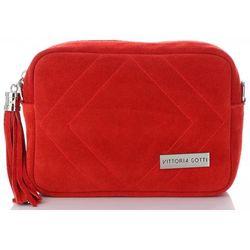 edbff5d9ebd72 Włoskie Torebki Skórzane Listonoszki na każdą okazję marki Vittoria Gotti  Czerwone (kolory)