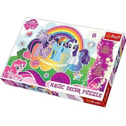 Puzzle TREFL Magic Decor Kucyki Pony 14605 (15 elementów)