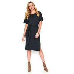 7eab1e8573 suknie sukienki sukienka z podwojnym dolem i wycietymi kolkami ...