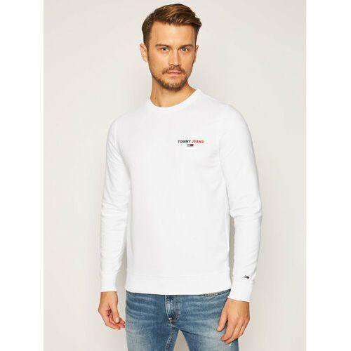 Tommy Jeans Bluza Tommy Chest Graphic DM0DM08729 Biały Regular Fit