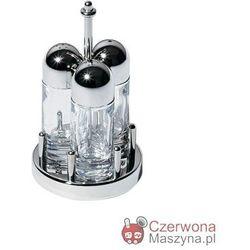 Zestaw: solniczka, pieprzniczka i pojemnik na wykałaczki Alessi