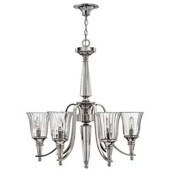 LAMPA wisząca HK/CHANDON6 Elstead HINKLEY ŻYRANDOL kryształowa OPRAWA crystal srebrny przezroczysty
