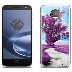 Foto Case - Lenovo Moto Z Force - etui na telefon Foto Case - purpurowe drzewo