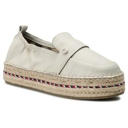 98a2b99b561e9 Espadryle TOMMY HILFIGER - Colorful Rope Flat Espadrille FW0FW03794 Whisper  White 121