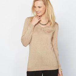 Sweter z połyskliwej włóczki, 13% wełna