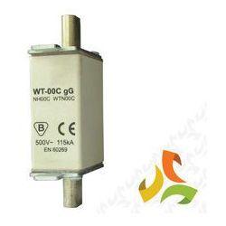 Wkładka topikowa zwłoczna gg WT-00C 63A, bezpiecznik przemysłowy ETI