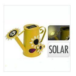 Lampka solarna konewka, żółta