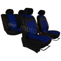 Pokrowce samochodowe uniwersalne Eko-skóra Niebieskie BMW Seria 1 F20/F21 od 2011 - Niebieski