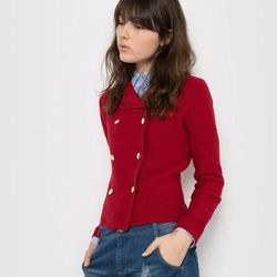 Sweter zapinany na guziki, w stylu kurtki ramoneski