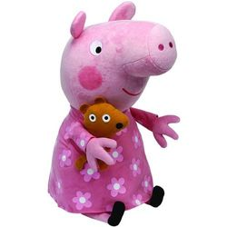Beanie Babies Peppa Pig - Świnka Peppa w koszuli nocnej średnia