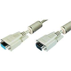 Przedłużacz TV, Monitor VGA Digitus AK-310203-100-E, [1x Złącze męskie VGA <=> 1x Złącze żeńskie VGA ], 10 m, Szary