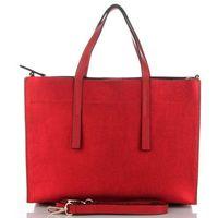 c7d780b83b96e Vittoria Gotti Firmowe Torebki Skórzane Modny Kuferek Made in Italy Czerwone  (kolory)