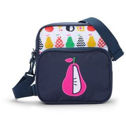 Penny Scallan Design, torba listonoszka, biało-granatowa w gruszki Darmowa dostawa do sklepów SMYK