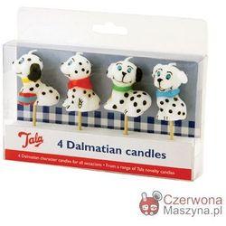4 Świeczki na tort Tala Dalmatyńczyki