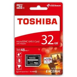 karta pamięci Toshiba microSDHC 32GB EXCERIA M301 48MB/s class 10 UHS-I