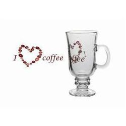 Szklanka do kawy latte Irish Coffee, dekoracja I Love Coffee