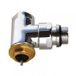Zawór termostatyczny kątowy Terma, gwint zewnętrzny - satyna TGZTST009